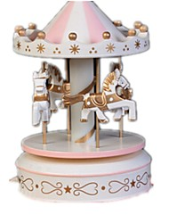 Balls Music Box Toys Horse Carousel Plastics Wood Pieces Unisex Birthday Gift