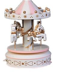 abordables -Pelotas Caja de música Juguetes Bonito Artículos de decoración Caballo Tio Vivo Merry Go Round Plásticos Cristal Madera Piezas Unisex