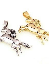 baratos -Homens / Para Meninos Prata Chapeada / Chapeado Dourado Pingentes - Metálico / Animal / Bling Bling Dourado / Prata Fio Único / Forma
