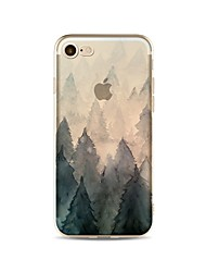 Case For Apple iPhone X iPhone 8 Plus Transparent Pattern Back Cover Tree Soft TPU for iPhone X iPhone 8 Plus iPhone 8 iPhone 7 Plus