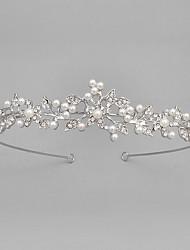 baratos -Cristal Imitação de Pérola Acrílico Strass Tiaras 1 Casamento Recém-Nascido Housewarming Parabéns Capacete