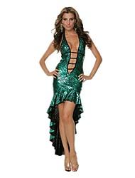 Coda da Sirena Fiabe Cosplay Un Pezzo/Vestiti Donna Unisex Halloween Carnevale Feste/vacanze Costumi Halloween Verde Fucsia Argento