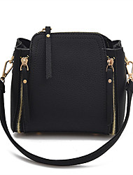 Women Bags All Seasons PU Shoulder Bag Rivet for Casual Green Black Red Blushing Pink