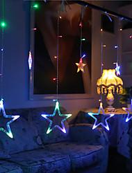 10m 60led rgb Weihnachtsbeleuchtung Sternlichter Feiertagshochzeitsfestdekorationen Vorhanglichter Schnur Lichter 220v