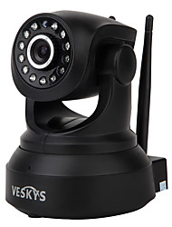 abordables -veskys® 720p hd wi-fi caméra ip w / 1.0mp téléphone intelligent surveillance à distance sans fil support 64gb carte tf