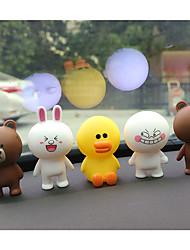 Недорогие -DIY автомобильный бурый медведь может быть кроликом куклы прекрасные украшения автомобиля подвеска&Orname резина