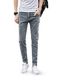 cheap -Men's Cotton Skinny Jeans Pants - Solid Colored