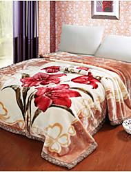 Недорогие -Фланель Цветы Хлопчатобумажная ткань одеяла