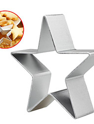 cheap -Aluminium alloy Kitchen DIY Cookies Cake Mould Cartoon Mousse Ring Baking Mold B Cookies baking mold five points stars metal