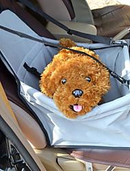 Gato Cachorro Tranportadoras e Malas Animais de Estimação Transportadores Prova-de-Água Respirável Dobrável Sólido Cinzento Rosa claro