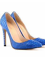 Damen Schuhe Echtes Leder PU Frühling Sommer Pumps High Heels Für Normal Weiß Schwarz Blau