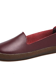 Women's Flats Formal Shoes Comfort Spring Fall Real Leather Casual Outdoor Office & Career Party & Evening Dress Flat Heel Blue Brown