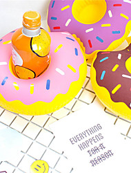 Inflatable Donut Cup Holder Floating Coasters Drink Beverage Holders Pool Party Supplies