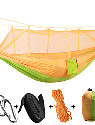 cheap -Camping Hammock with Mosquito Net Outdoor Collapsible, Anti-Mosquito Nylon for Camping / Camping / Hiking / Caving / Outdoor - 1 person