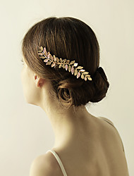 cheap -Alloy Hair Combs Flowers 1 Wedding Special Occasion Anniversary Birthday Party / Evening Headpiece