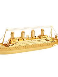 Недорогие -Пазлы Металлические пазлы Корабль 3D Своими руками Медь Металл Универсальные Подарок