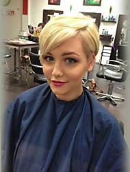 Недорогие -Классика Прямой силуэт Машинное плетение Натуральные волосы парики Парик в афро-американском стиле Высокое качество Повседневные