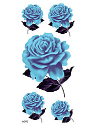 cheap -Temporary Shoulder Body Flower Series 3D Rose Waterproof Tattoos Stickers Non Toxic Glitter Large Fake Tattoo Halloween Gift 22*15cm