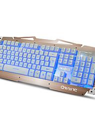 cheap -RUYINIAO M-500S Metal Gaming Backlit Keyboard 104 Keys USB Cable