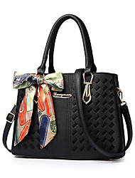 Women Bags All Seasons PU Tote for Formal Office & Career Blushing Pink Gray Purple Army Green Dark Red