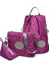 economico -Donna Sacchetti Nylon sacchetto regola Set di borsa da 3 pezzi per Casual Per tutte le stagioni Blu Nero Fucsia Caffè