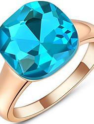 Settings Ring Band Ring  Luxury Women's Euramerican Fashion Blue Round Style Business  Graduation Anniversary Birthday  Movie Gift Jewelry
