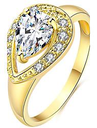 Dámské Široké prsteny Kubický zirkon Přizpůsobeno Luxus Klasické Základní Sexy láska Módní Cute Style Elegantní Zirkon Slitina Kapka