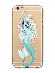 abordables -Funda Para Apple iPhone X iPhone 8 Plus Transparente Diseños Funda Trasera Chica Sexy Caricatura Animal Suave TPU para iPhone X iPhone 8