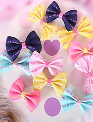 cheap -Dog Hair Accessories Dog Clothes Party Birthday Holiday Casual/Daily Sports Fashion Wedding Halloween New Year's Solid Yellow Blue Pink
