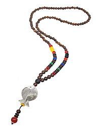 abordables -Femme Animal Classique Basique Style Simple Pendentif de collier Colliers chaînes Col Plaqué argent Bois Pendentif de collier Colliers