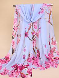 cheap -Women's Chiffon Fashion  Farmhouse Style Cute Floral Plum Blossom Scarf  155*50CM