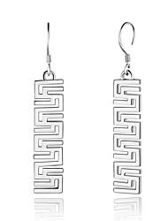 preiswerte -Damen Tropfen-Ohrringe Schmuck Modisch Rock nette Art Gothic Elegant versilbert Aleación Geometrische Form Schmuck Für Alltag Formal