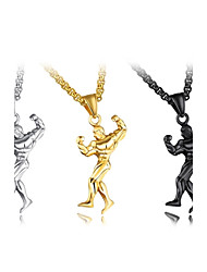 cheap -Men's Pendant Necklace  -  Metallic Personalized Classic Irregular Gold Black Silver Necklace For Party New Baby Gift