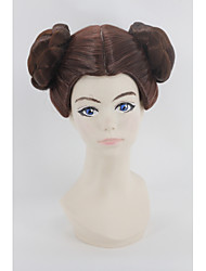 Leia Organa Princess Women Short Dark Auburn Synthetic Hair Cosplay Wig