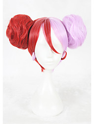 14inch Short Red Pink King of Glory Little Joe Wig Synthetic Anime Cosplay Hair Wig CS-340A