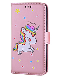 cheap -Case for Samsung Galaxy J7 (2017) J5 (2017) Case Cover Card Holder Flip Pattern Full Body Case Unicorn Hard PU Leather for Samsung J3 (2017) J310 J510