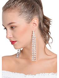 abordables -Mujer Pendientes colgantes Obsidiana Borla Sensual Joyería Destacada Hecho a Mano Moda Perla Artificial Legierung Forma de Línea Joyas
