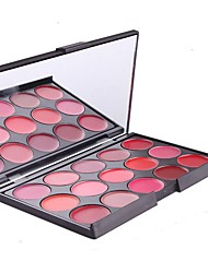 cheap -15-Color Matte Lipstick Palette Fashion Multi-Colours Lip Cream