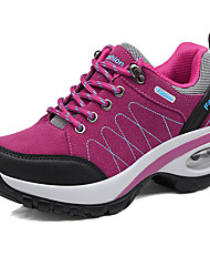 Women's Athletic Shoes Comfort Fall Winter Suede Hiking Shoes Athletic Casual Outdoor Split Joint Wedge Heel Fuchsia Purple Gray Black