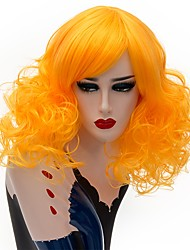 cheap -Synthetic Wig / Cosplay & Costume Wigs Curly Synthetic Hair Blue / Blonde / Pink Wig Women's Short Capless