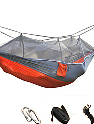 cheap -Camping Hammock with Mosquito Net Anti-Mosquito Collapsible Ultra Light (UL) Nylon for Camping Camping / Hiking / Caving Outdoor