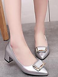 Damen High Heels Pumps Echtes Leder PU Sommer Normal Weiß Schwarz Silber Burgund 2,5 - 4,5 cm