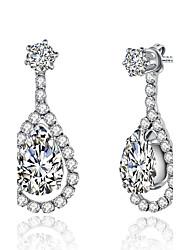 Women's Drop Earrings Rhinestone AAA Cubic Zirconia Friendship Bohemian Multi-ways Wear Handmade Classic Cubic Zirconia Rhinestone Silver