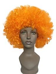 Fans Explosive Head Wig Orange Dance Wedding Party Dress Performance Props Wig Funny Fluffy Funny Clown Wig Cap