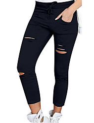 cheap -Women's High Rise Micro-elastic Skinny Pants, Sexy Solid Summer