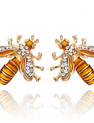 cheap -Women's Synthetic Diamond Stud Earrings - Bee Classic, Fashion Gold For Party / Gift / Daily