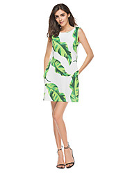 Women's Holiday Going out Casual/Daily Club Sexy Street chic Bodycon Dress,Embroidered Strap Above Knee Sleeveless Polyester SummerHigh