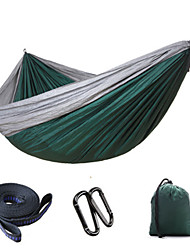 cheap -2 persons Camping Hammock Collapsible Nylon for Camping Camping / Hiking / Caving Outdoor