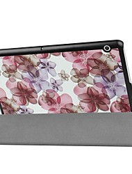 cheap -Painting Pattern Three fold PU Leather Case with Stand for Huawei MediaPad T3 10.0 inch Tablet PC