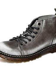 Herrer Støvler Komfort Snestøvler Modestøvler Motorcykel Støvler Militærstøvler Lysende såler Efterår Vinter Ægte Læder Oxford Læder PU